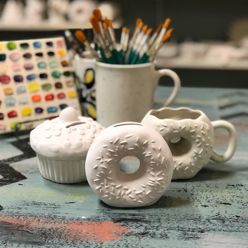 Glazed Pottery Painting Art Studio