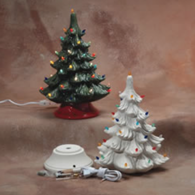 save 20 and pre order your vintage inspired ceramic christmas tree through october 50 deposit required to pre order balance due plus sales tax when - Paint Your Own Ceramic Christmas Decorations